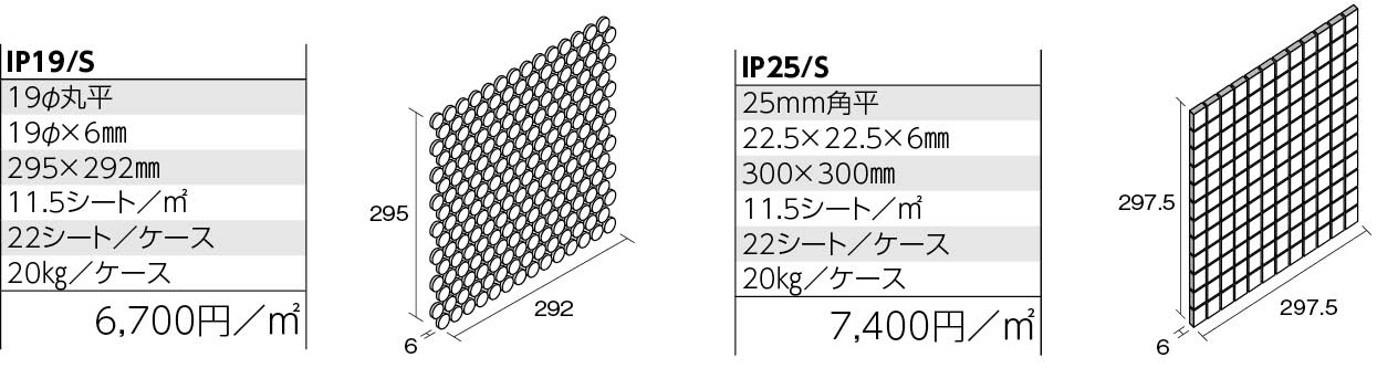 インプル・プリセラN,B 形状図