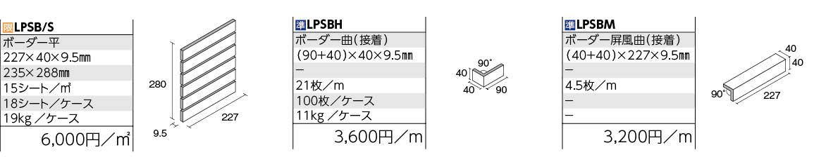 クレセールボーダー 形状図