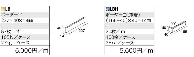 LBボーダー 形状図