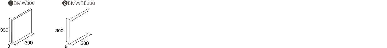 ブライト&マット of ホワイト300形状図