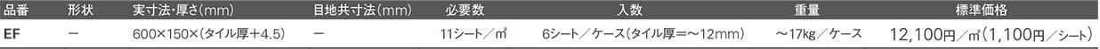 イージーフロアー価格表